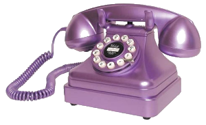 Purple phone transparent
