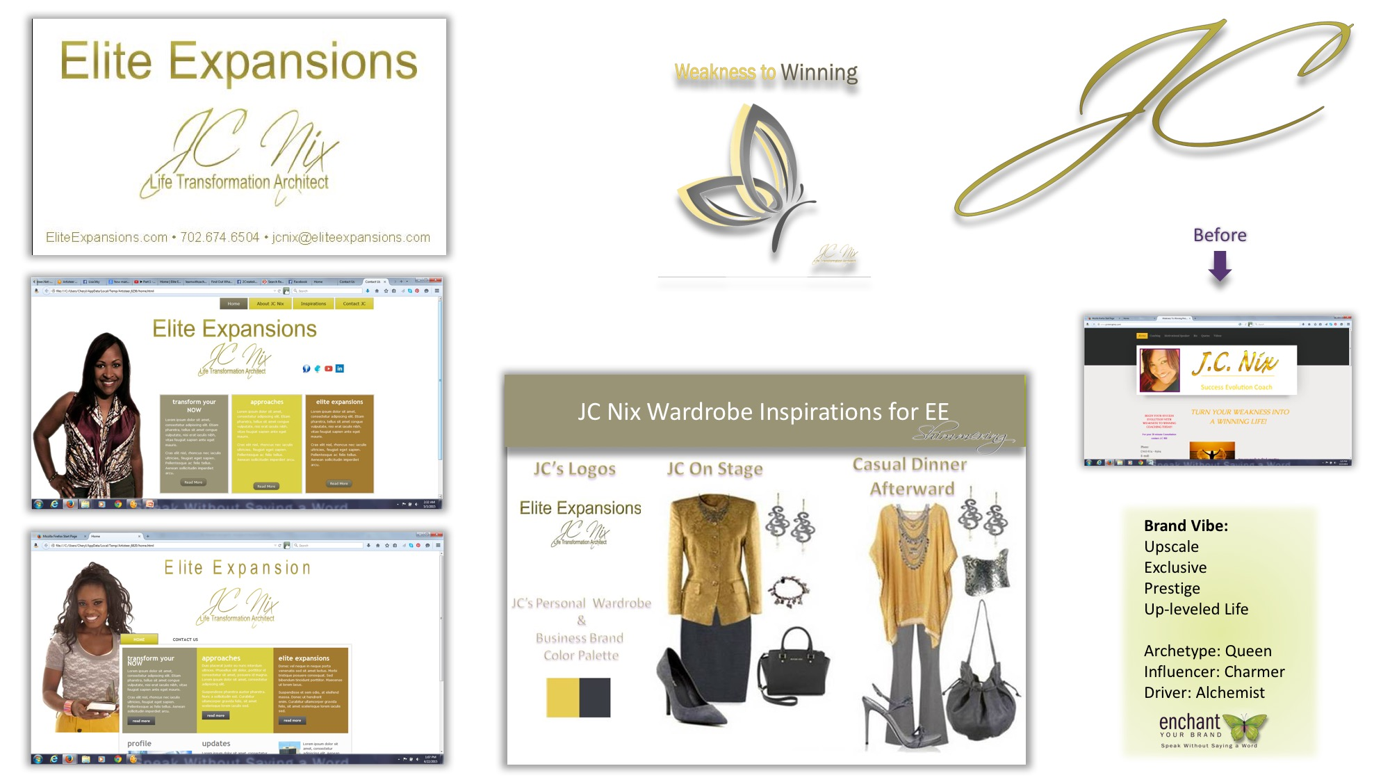 Brand Elements, Web Design Concept, Personal Brand Capsule